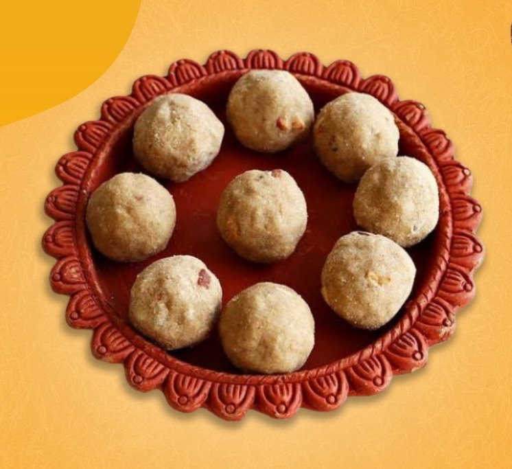 Atta Ladoo (with desi cow ghee & jaggery)