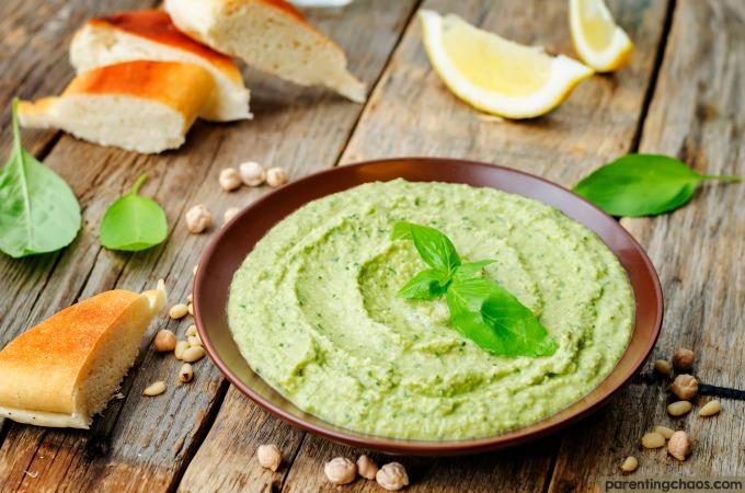 Hummus - Pesto Flavored